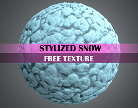 3D model Stylized Snow Texture