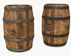Wooden Barrels Assets 3 3D model