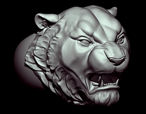 3D printable model Zbrush jewelry ring Angry Tiger