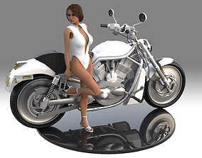 3D print model Hot High Detailed Girl Women sitting in 2
