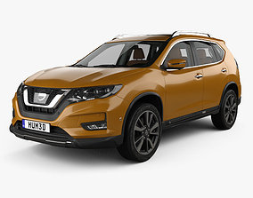 3D Nissan X-Trail with HQ interior 2017