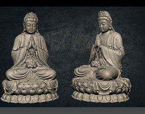 3D asset game-ready Buddha peace