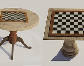 Chess table 3D models PBR