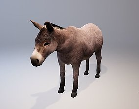 3D asset Donkey Animations-Lowpoly- Game Ready