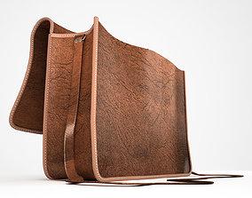 3D Open leather satchel bag