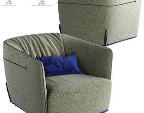 3D model Poliform SANTA MONICA M armchair