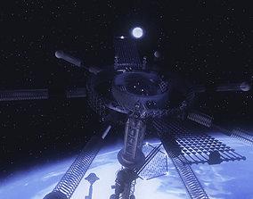 Space elevator Sci-FI 3D model