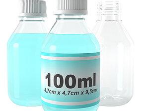 3D model sanitizer bottle 100ml type12