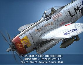 3D Republic P-47 Thunderbolt - Rozzie Geth II