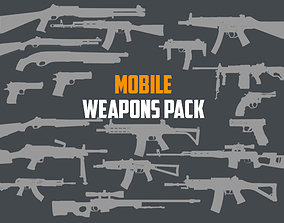 Mobile Weapon Pack 3D model VR / AR ready
