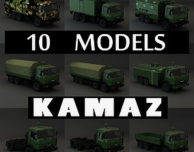 Collection Truck Kamaz 3D