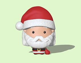 Santa Claus cute 3D printable model