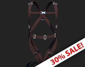 PPE Safety Harness 3D model character