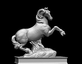 horse rampant sculpture monument 3D print model