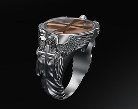 Angel ring 3D print model rings