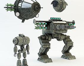 3D asset war robot set