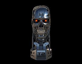Terminator T-800 Skull Bust 3D model
