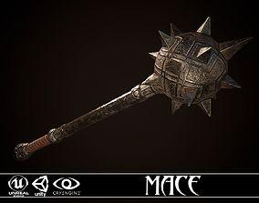Mace 01 3D model low-poly
