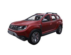 2019 Dacia Duster Prestige with HQ interior 3D model