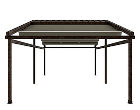 Motorized Pergola 5a rust 2 3D model