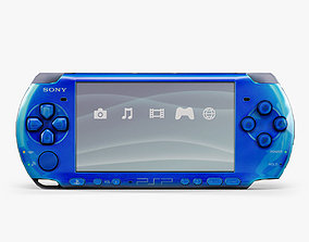 3D model low-poly Sony PSP-3008