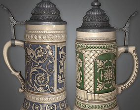 DVB - Ceramic Beer Stein - PBR Game Ready 3D asset
