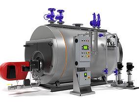 Viessmann Vitomax 200 HS steam boiler 3D pipe