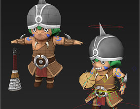 Clash royale style animated Goons fantasy 3D model