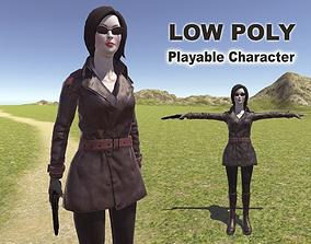 Spy Woman 3D asset