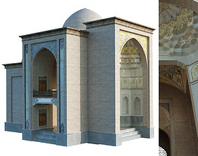 old islamic turkish tomb set 140 3D model