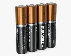 3D AAA Four Duracell Alkaline Battery