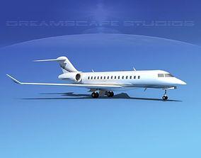 3D model Bombardier Global 5000 V02