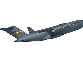 C17 Globemaster III Military Aircraft 3D