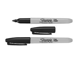 Sharpie Fine Point Permanent Marker 3D