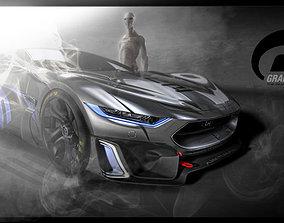 3D concept car maserati