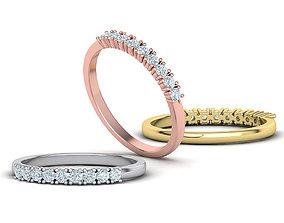 DIAMOND ANNIVERSARY BAND RING with 2mm stones