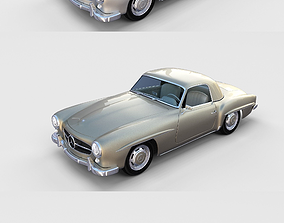 Mercedes 190SL with interior Pack 3D