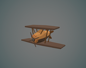 Airplane cartoon - 04 3D asset