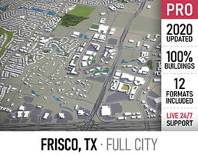 Frisco - Dallas - city and surroundings 3D asset
