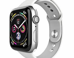 3D Apple Watch Series 4 Sport 44mm Silver Aluminum