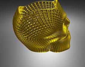 3D printable model math sculpture skull