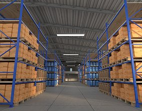 warehouse 3D model storage manufacturing