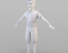 Cartoon Elite Man 3D model