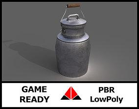 3D asset Milk jug