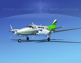 3D Beechcraft King Air C90 V01