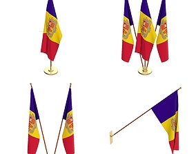 3D model Andorra Flag Pack