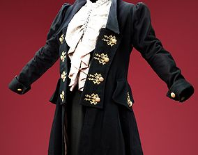 Fancy Dress and Coat 3D asset