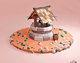3D asset Lowpoly medieval Well