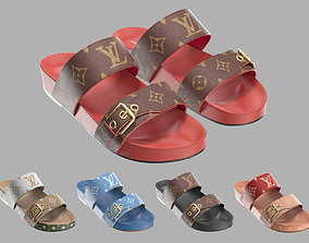 Louis Vuitton Bom Dia Flat Mule 3D model