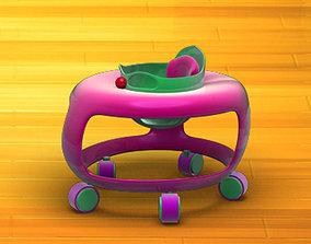 3D model realtime Baby Walker Cartoon 02